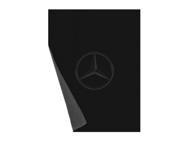 Mercedes-Benz Wende Fleecedecke schwarz anthrazit